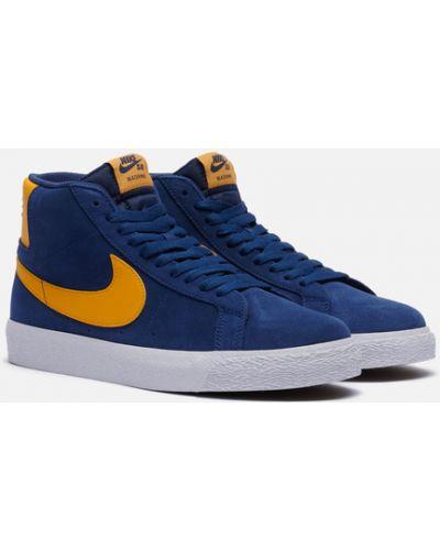 Синие текстильные кроссовки Nike Sb