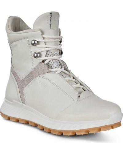 Высокие кроссовки мембранные белый Ecco