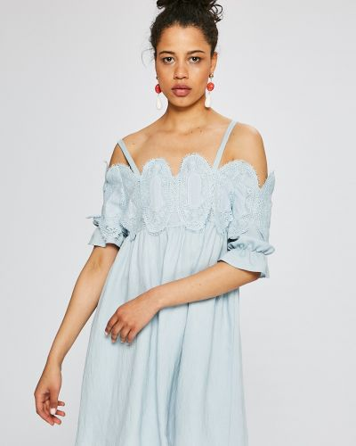 Платье мини сетчатое льняное Silvian Heach