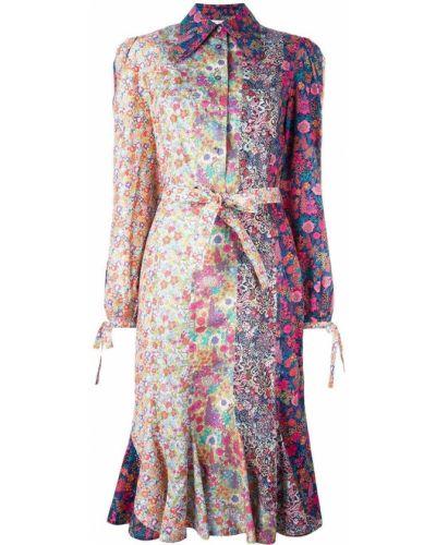 Платье с цветочным принтом платье-рубашка Olympia Le Tan
