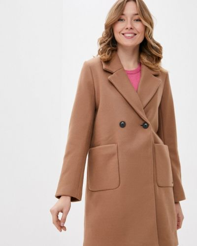 Коричневое пальто двубортное B.young