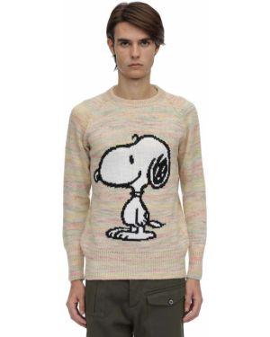 Prążkowany biały sweter Lc23