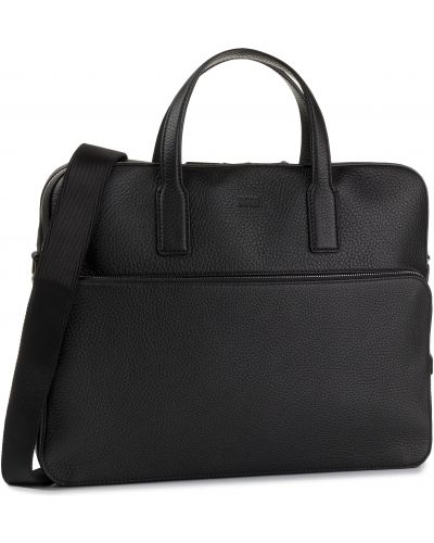 Skórzany torba czarny Boss