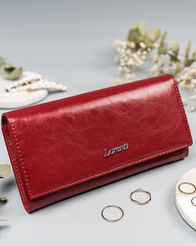 Czerwony portfel lakierowany Lorenti