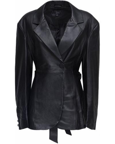 Черная кожаная куртка с поясом Ellery