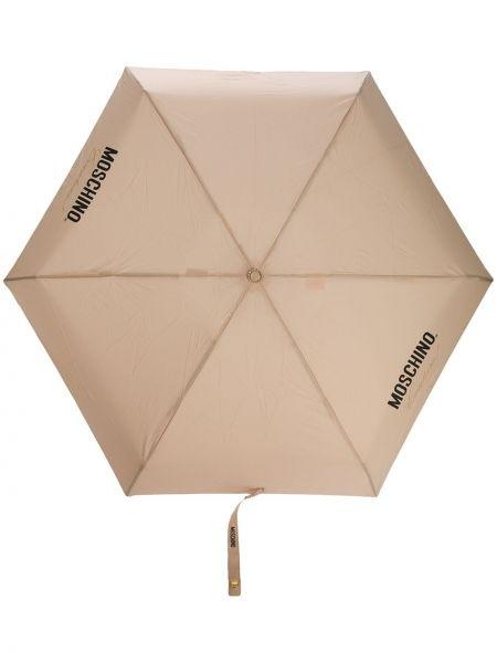 Зонт с принтом - хаки Moschino