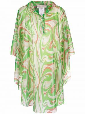 Płaszcz przeciwdeszczowy - zielony Emilio Pucci