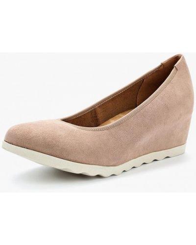 Туфли на каблуке замшевые 2018 Bata