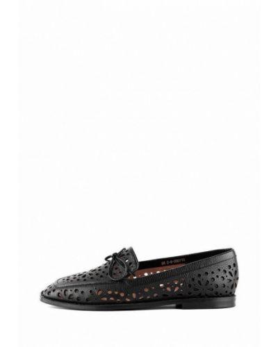 Черные кожаные туфли Sasha Fabiani