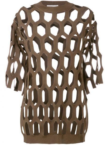 Prążkowany brązowy top Sonia Rykiel