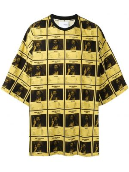 Желтая футболка оверсайз Yoshiokubo