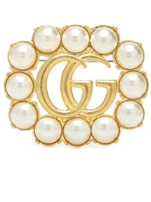Dom broszka złoto Gucci