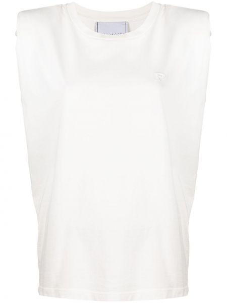 Хлопковая белая прямая футболка с круглым вырезом Philosophy Di Lorenzo Serafini