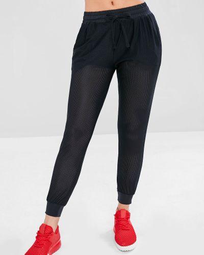 Спортивные брюки с подкладкой с перфорацией Zaful Sports