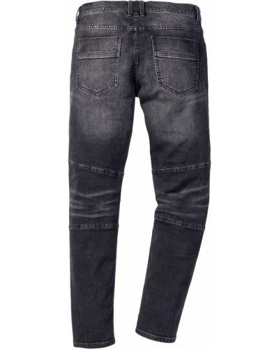 Черные прямые джинсы стрейч Bonprix