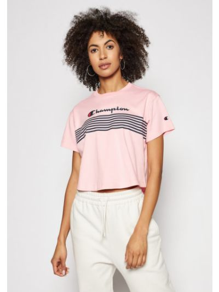 T-shirt - różowa Champion