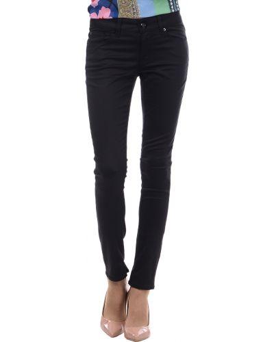Черные брюки хлопковые Love Moschino
