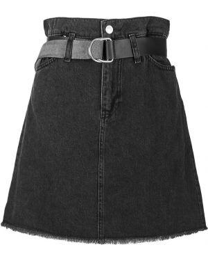 Джинсовая юбка серая Guess
