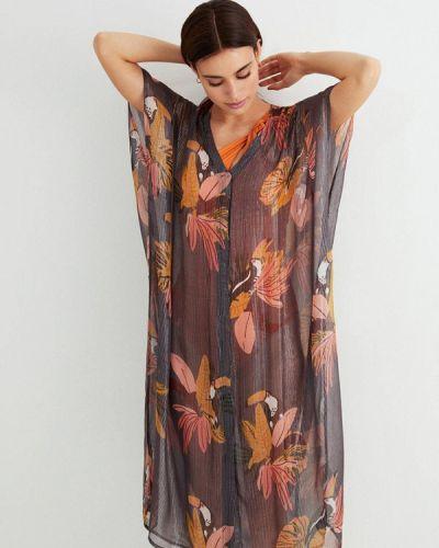 Серое пляжное платье Women'secret