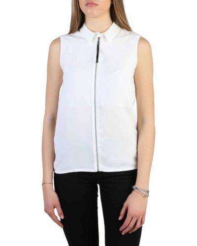Koszula jeansowa - biała Armani Jeans