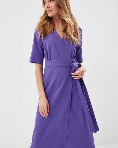 Однобортное фиолетовое платье Imocean