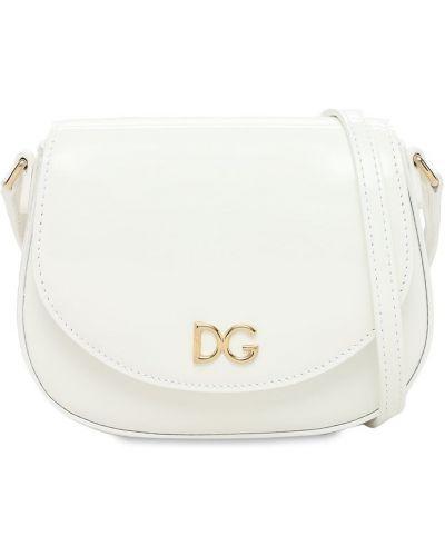 Biała torebka skórzana Dolce And Gabbana
