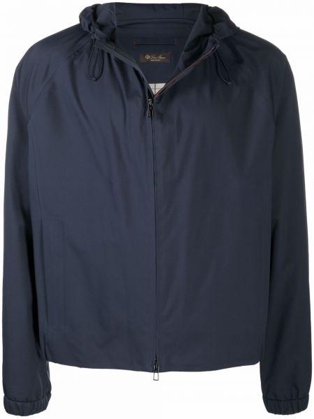 Niebieska klasyczna kurtka Loro Piana