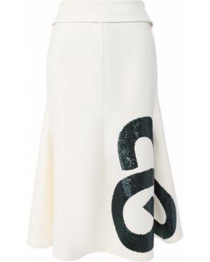 Шерстяная юбка - белая Victoria Beckham