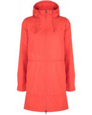 Спортивная прямая оранжевая нейлоновая куртка Columbia