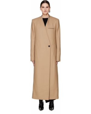 Длинное пальто бежевое с запахом Haider Ackermann