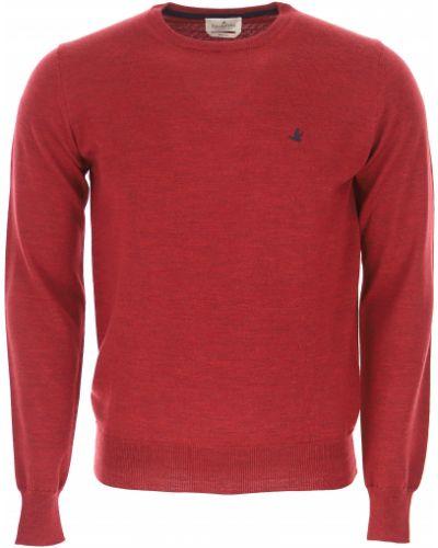 Prążkowany sweter bawełniany z długimi rękawami Brooksfield