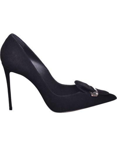 Туфли на каблуке замшевые кожаные Le Silla