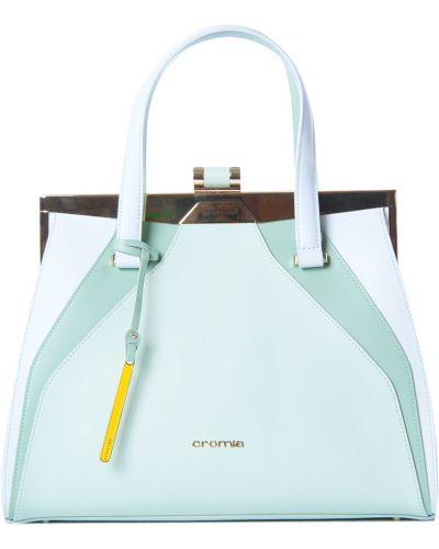 Кожаная сумка зеленый весенний Cromia