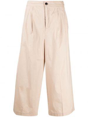 Хлопковые плиссированные укороченные брюки с поясом Woolrich