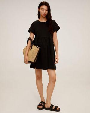 Платье мини с поясом с рукавами Mango