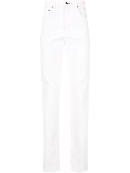 Bawełna biały jeansy na wysokości z kieszeniami wysoki wzrost Rag & Bone