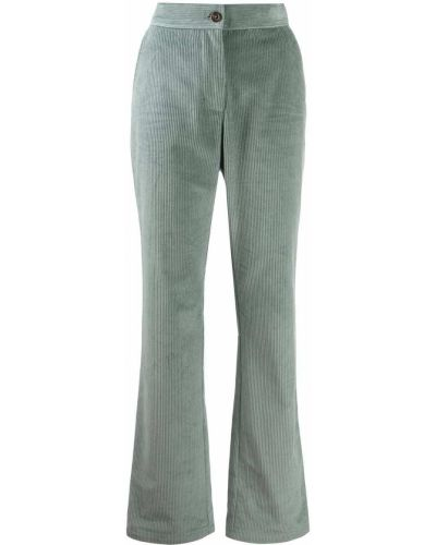 Синие прямые брюки на пуговицах с высокой посадкой See By Chloé