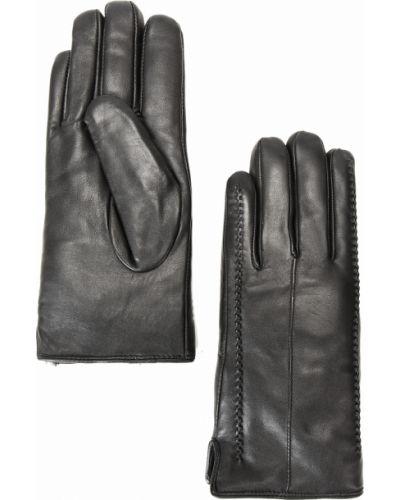 Кожаные перчатки черные из овчины Finn Flare