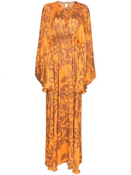 Платье макси с пайетками на пуговицах Johanna Ortiz