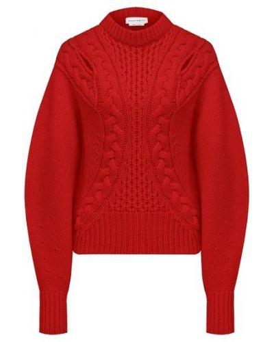 Красный шерстяной свитер Alexander Mcqueen