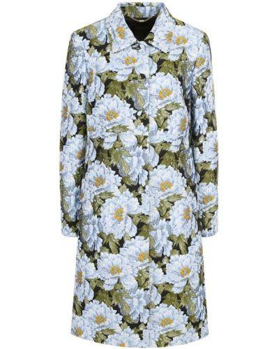 Пальто с цветочным принтом с принтом Escada
