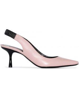 Розовые кожаные туфли Fabrizio Viti