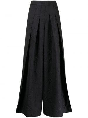 Плиссированные черные кюлоты с вышивкой Emporio Armani