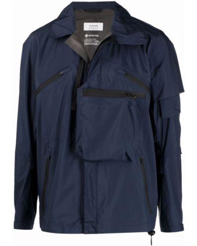 Niebieska kurtka ze stójką materiałowa Acronym