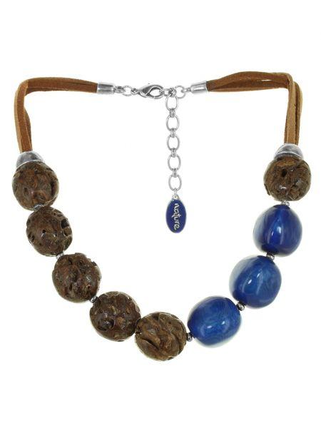 Синее кожаное ожерелье Nature Bijoux