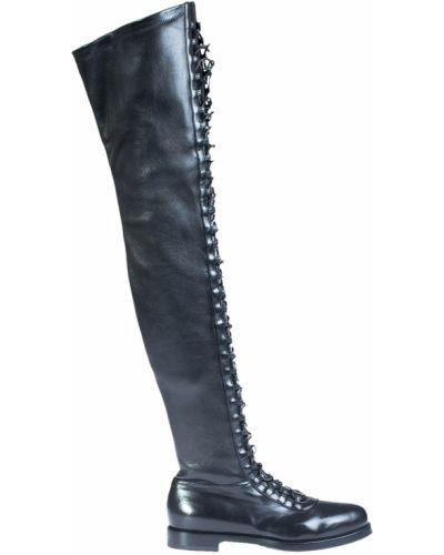 Ботфорты кожаные черные Le Silla