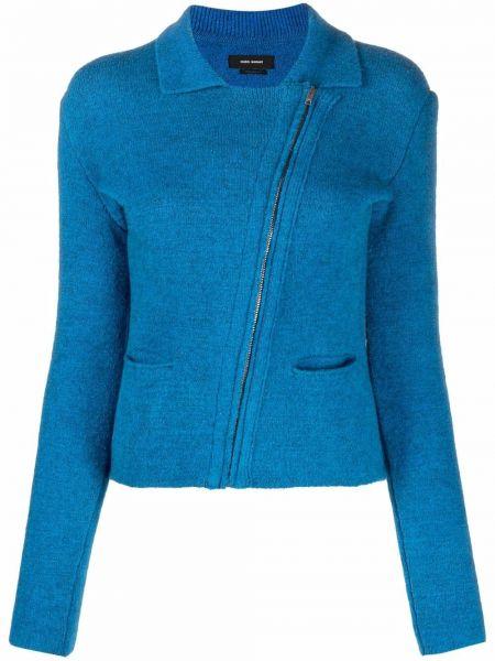 Синяя длинная куртка Isabel Marant