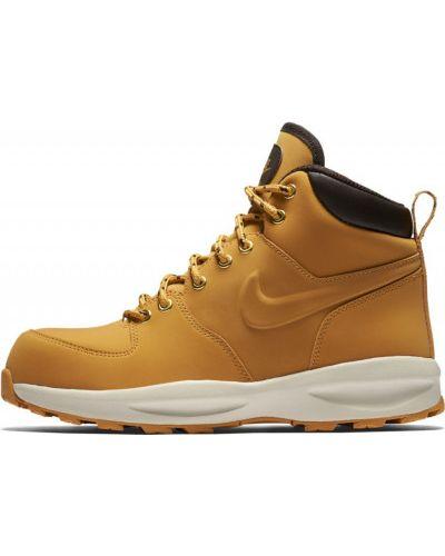 Коричневые сапоги текстильные Nike