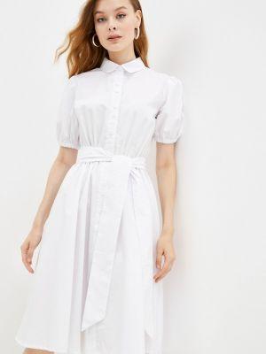 Белое платье рубашка Gloss