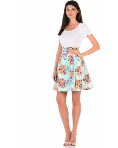 Повседневная пышная джинсовая юбка из вискозы Cubo Nero